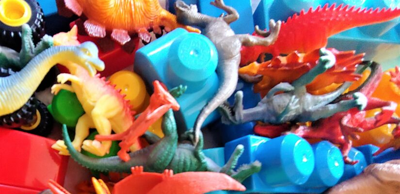 want more fun number games for preschoolers – add mega bloks and dinosaurs